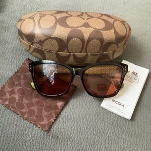 Authentic Coach Tortoise Prescription Sunglasses